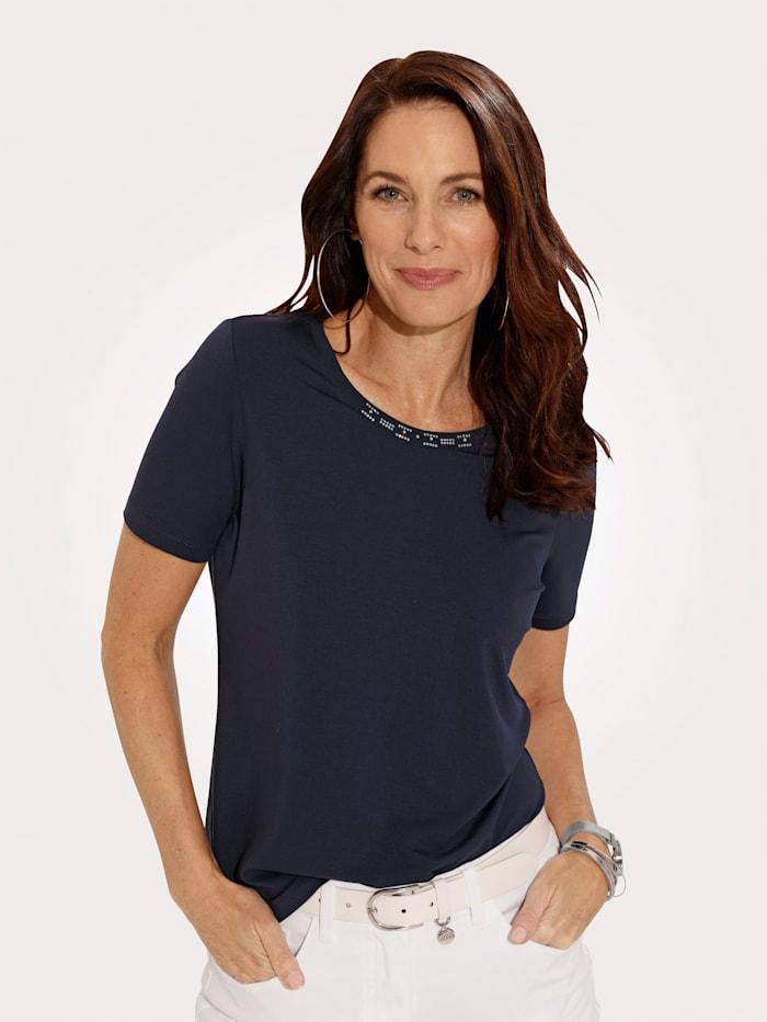MONA Shirt in trageangenehmer Jersey-Qualität, Marineblau