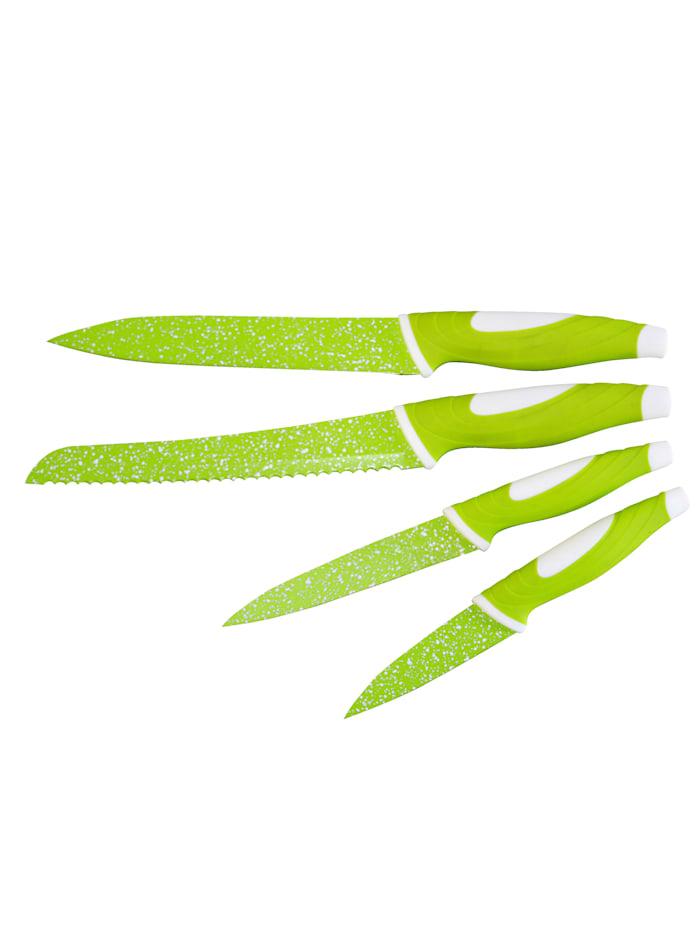 Stoneline Lot de 4 couteaux, vert