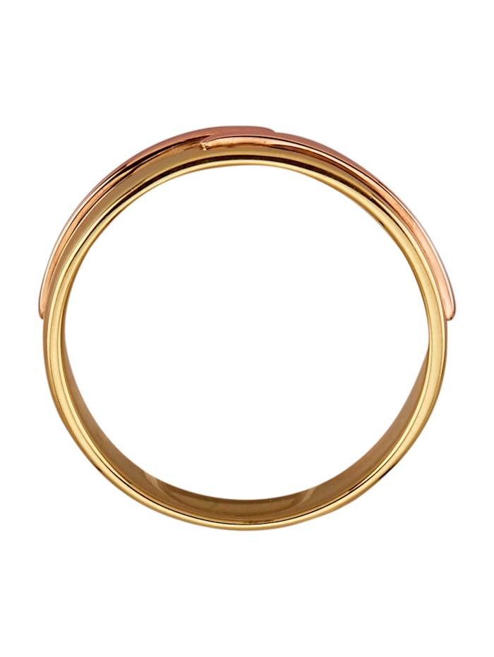 Bague en or jaune et or rose 585