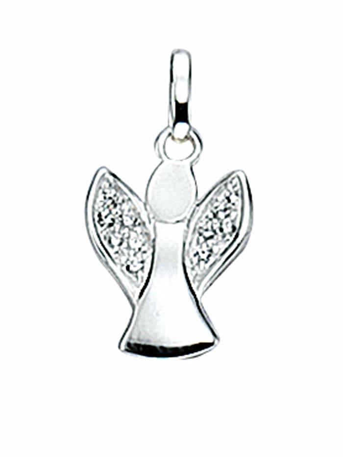 1001 Diamonds 1001 Diamonds Damen Silberschmuck 925 Silber Charms Anhänger Engel mit Zirkonia, silber