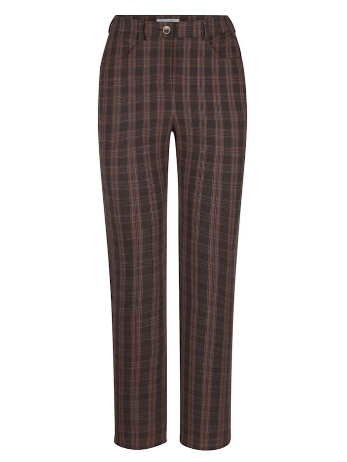 Nohavice s nadčasovým károvaným vzorom
