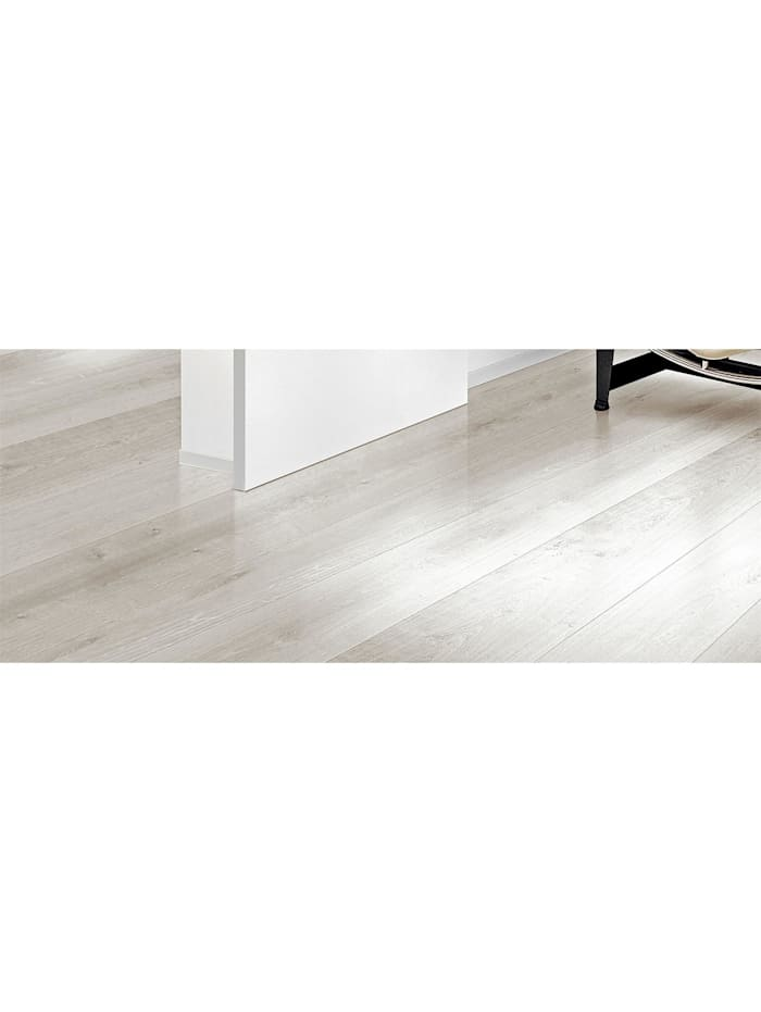 HTI-Line Selbstklebender Vinylboden PVC- Boden Preis pro m² 12,29 Euro, Hellgrau, Weiß