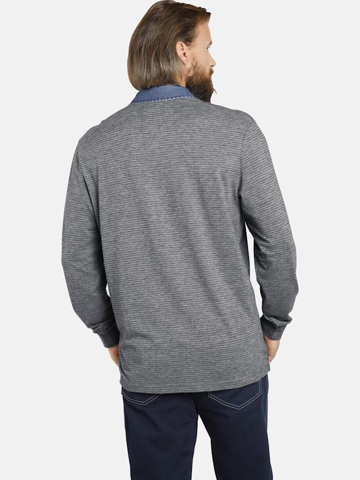 Jan Vanderstorm Langarm-Poloshirt BERNWALD