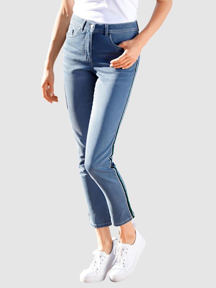 Dress In 3/4-jeans in model Sabine Slim, Blue bleached