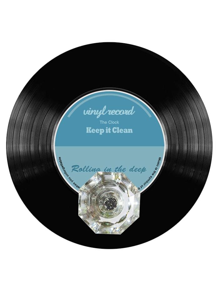 HTI-Line Wandhaken Vinyl, Schwarz, Blau