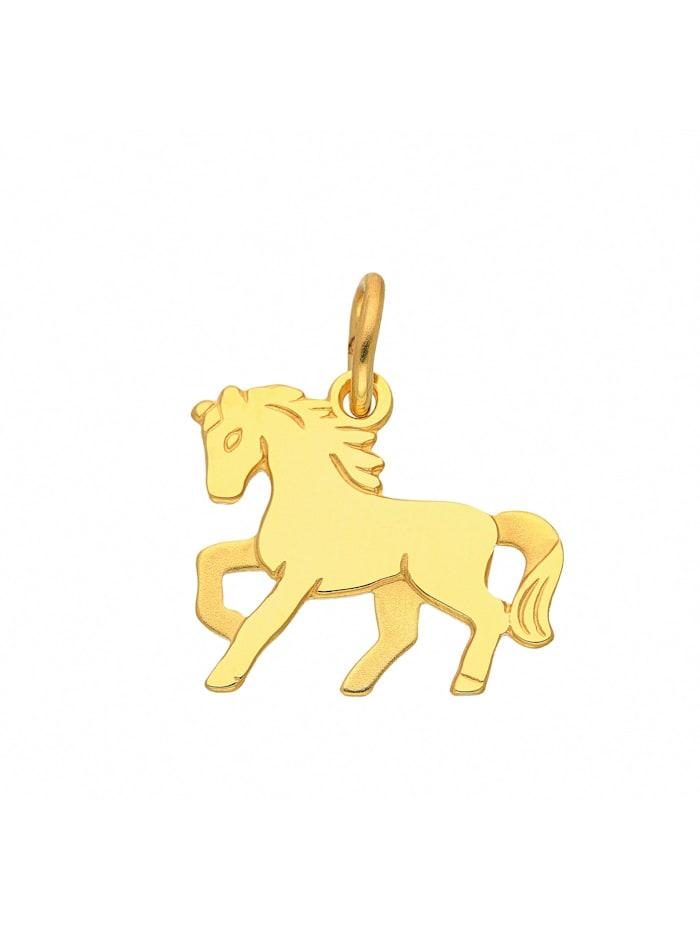 1001 Diamonds Damen Goldschmuck 333 Gold Anhänger Pferd, gold