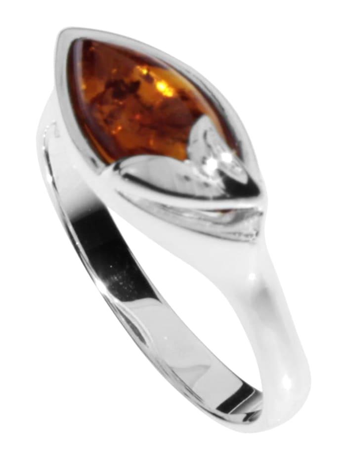 OSTSEE-SCHMUCK Ring - Majken - Silber 925/000 - Bernstein, silber