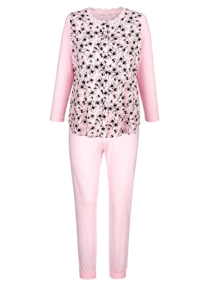 Pyjama's per 2 stuks met romantische bloemenprint