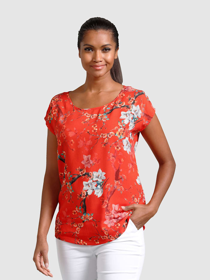 Alba Moda Blouse en coloris estivaux et tendance, Rouge