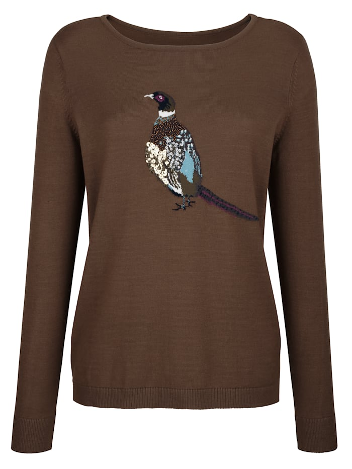 Jumper with a pheasant motif