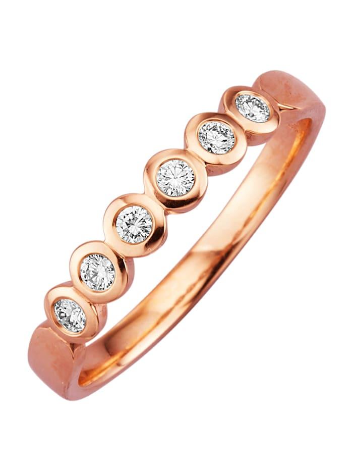Diemer Diamant Ruusukultainen timanttisormus, Roosa