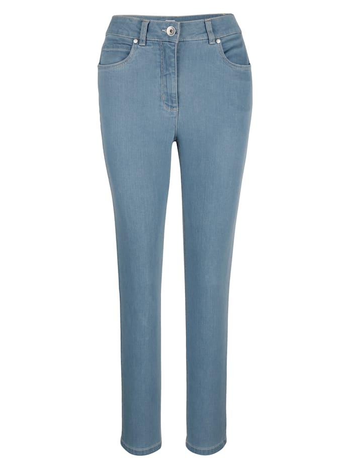 MONA Jean en matière bi-extensible confortable, Bleu ciel