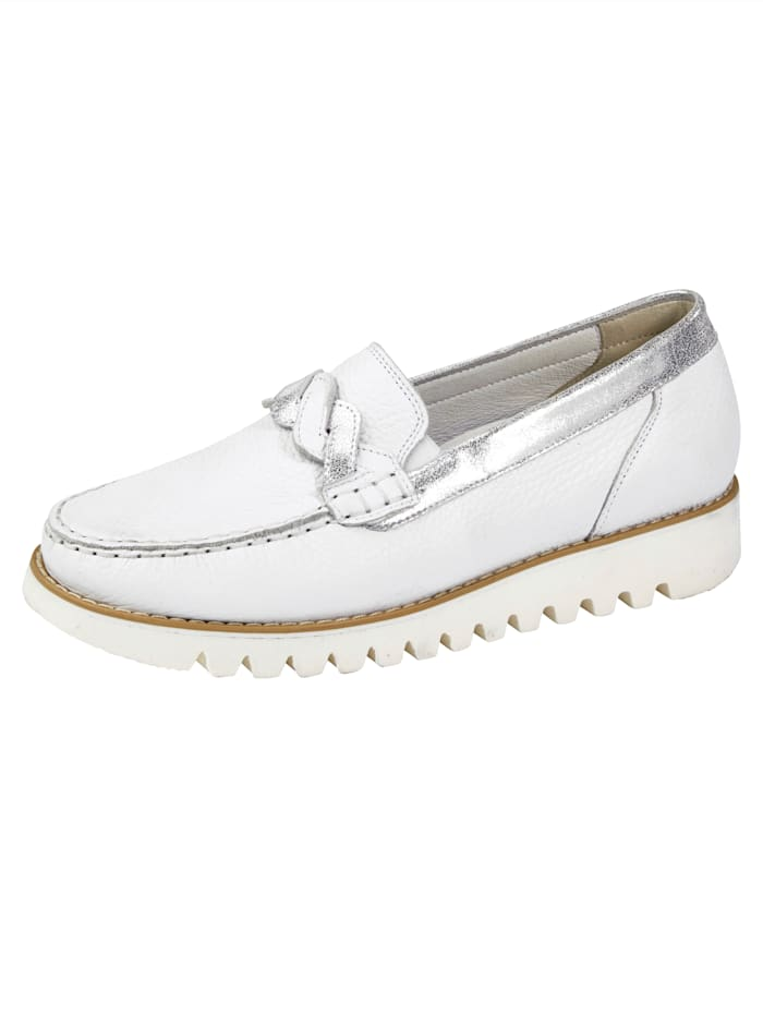 Waldläufer Moccasins made from Nappa leather, White
