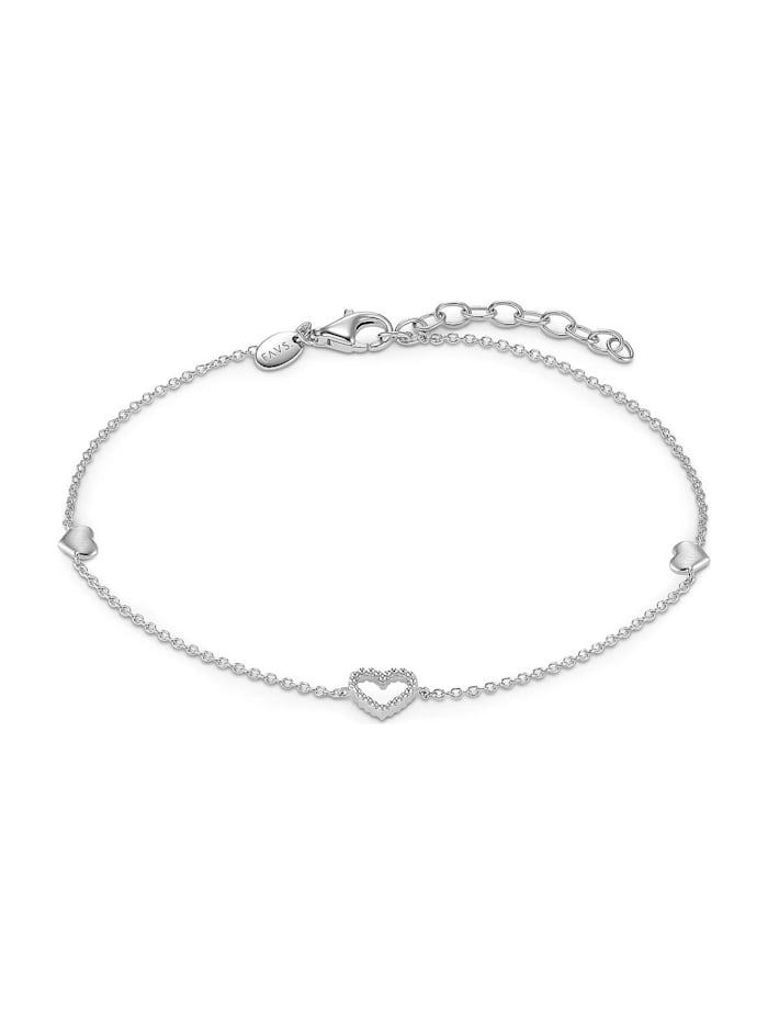 FAVS. FAVS Damen-Armband Valentin 925er Silber, silber
