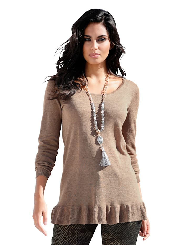 Pullover mit metallischem Garn
