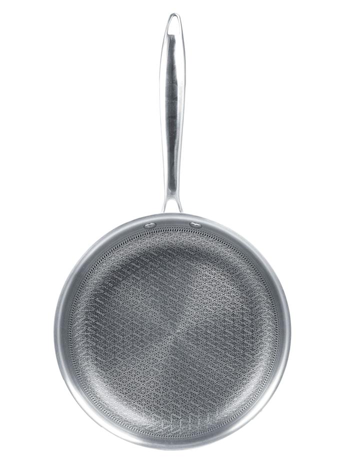 2tlg. Edelstahl-Pfannenset 'Creaflon Elite', Ø 20 cm & 28 cm, silberfarben