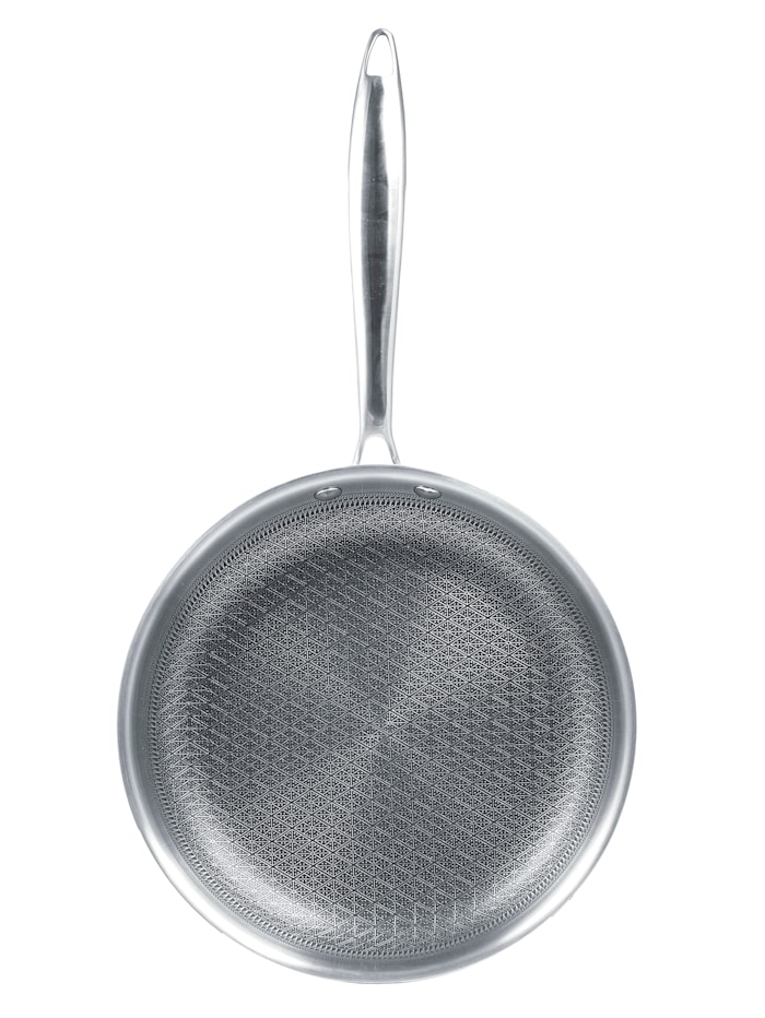 "HSP Hanseshopping Pinnoitettu teräspannu ""Creaflon Elite"", 2/pakkaus: Ø 20 cm & 28 cm, hopeanvärinen"