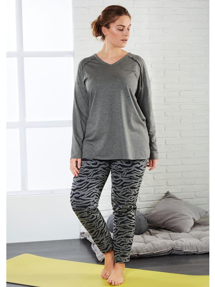 Jersey-Hose mit Animal-Print