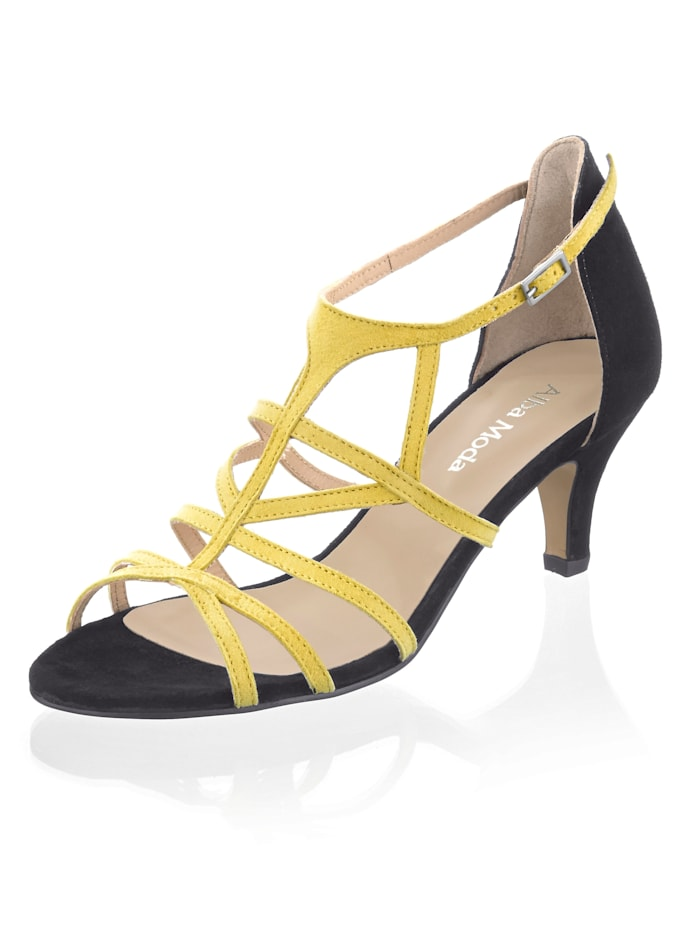 Alba Moda Sandalette im femininen Design, Schwarz