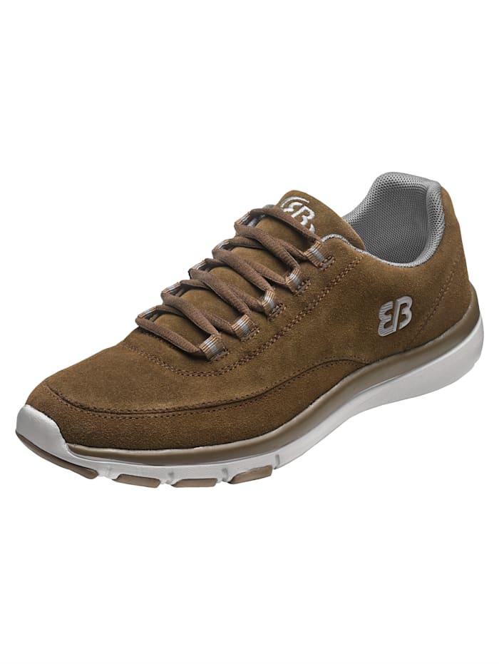 Brütting Sneaker van zacht leer, Bruin