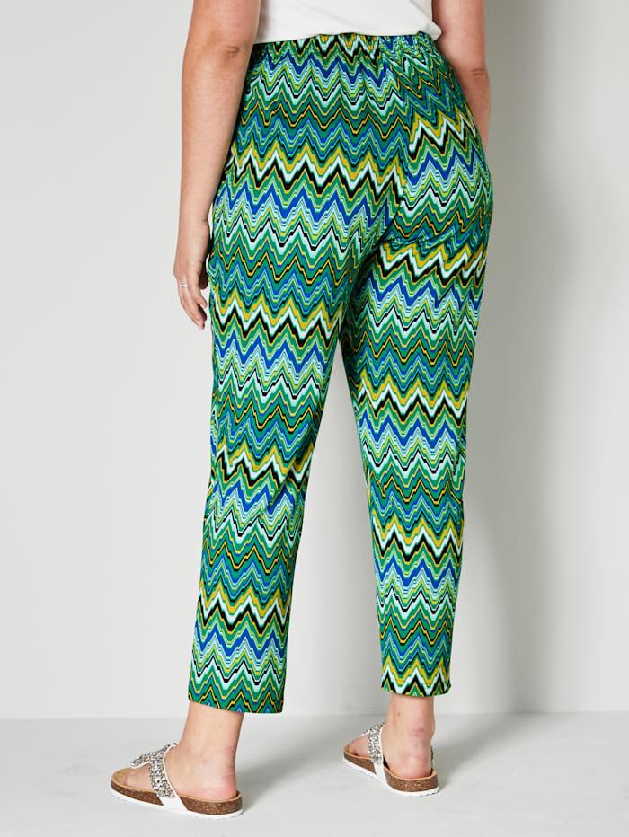 Pantalon en jersey à imprimé zigzag
