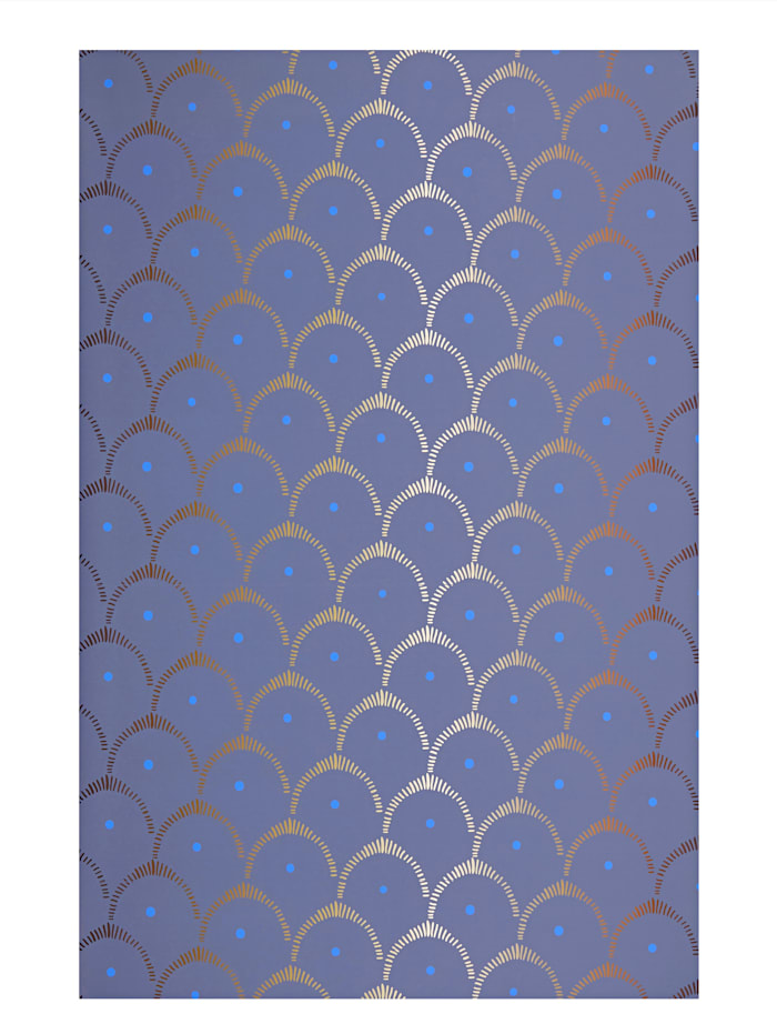 IMPRESSIONEN Tapete, Blau / Gold
