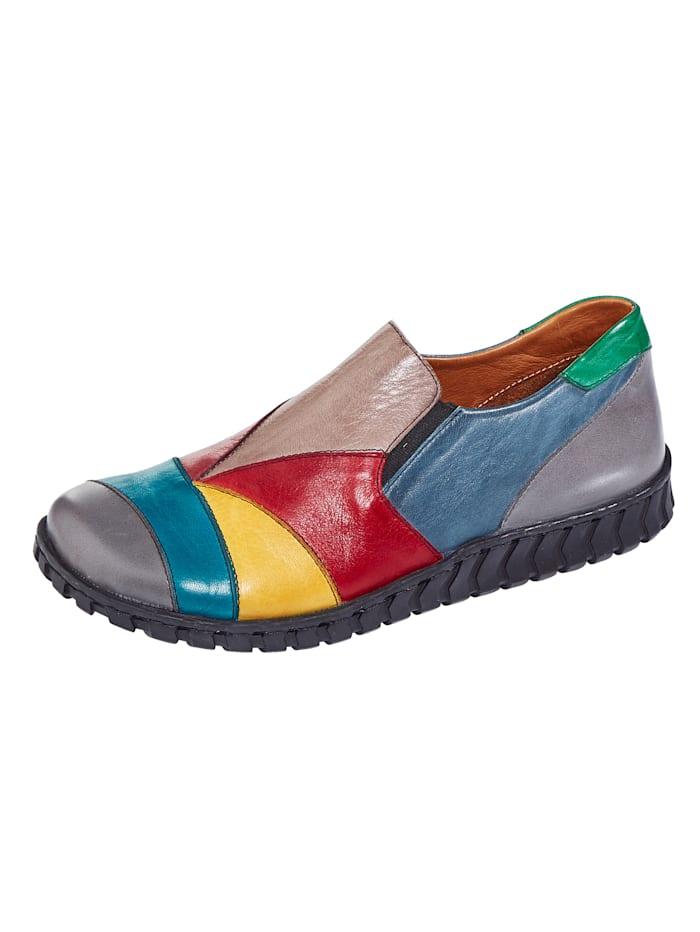 Gemini Slipper aus weichem Nappaleder, Multicolor