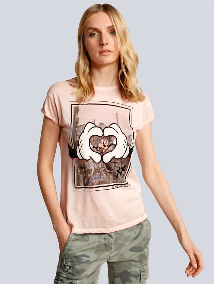 Princess GOES HOLLYWOOD T-Shirt mit Mickey Mouse, Rosé