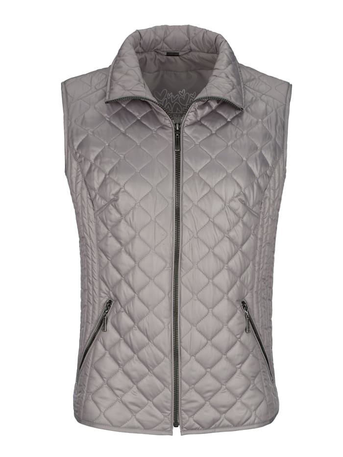 Quilted gilet in a chic design