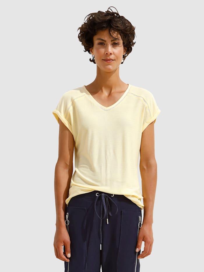 Dress In Shirt mit Crochettapedetails, Vanille