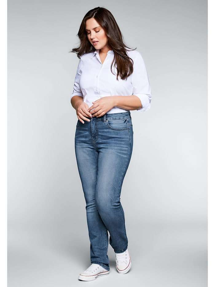 Sheego Jeans mit Bodyforming-Effekt, blue Denim