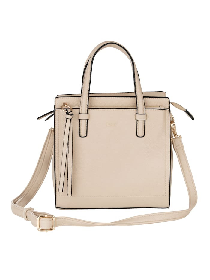 Gabor Handbag made from an embossed fabric, Beige