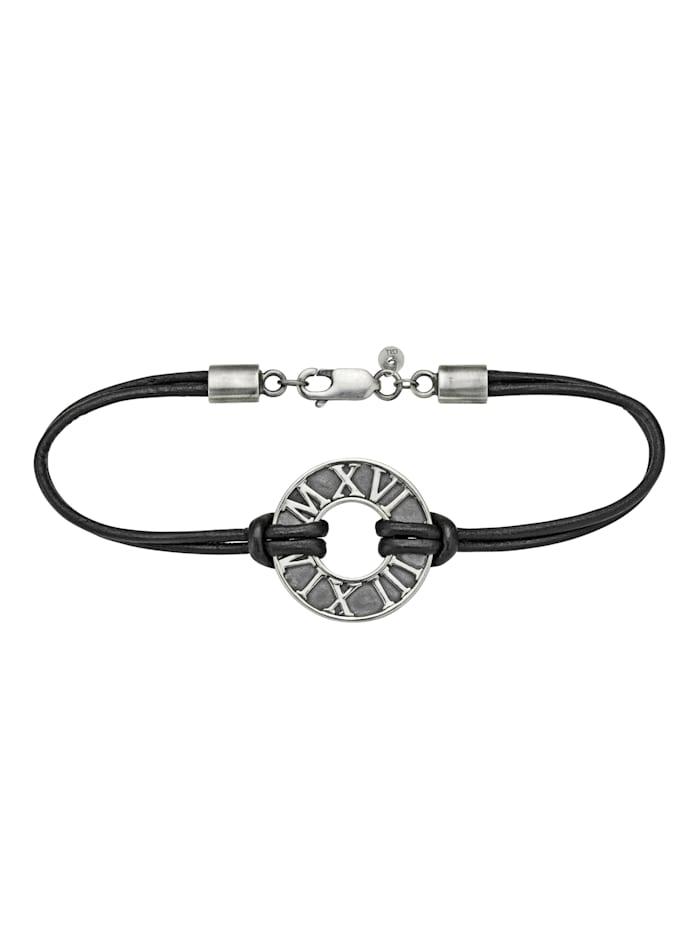 CAI Armband 925/- Sterling Silber 21cm Mattiert, Silbergrau