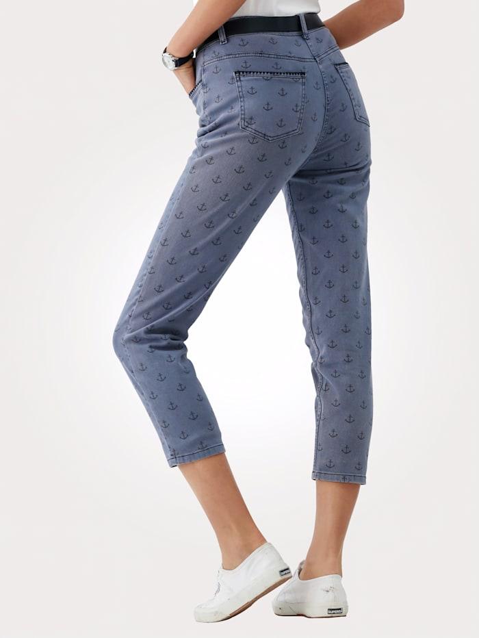 Jeans mit Anker-Druck