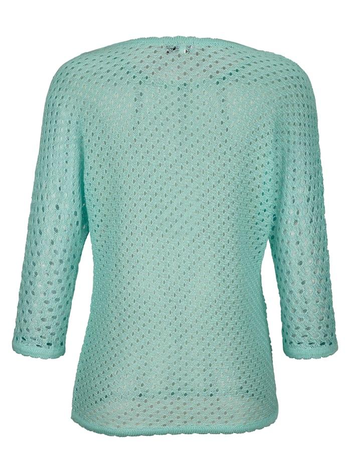 Pullover mit recyceltem Leinenanteil