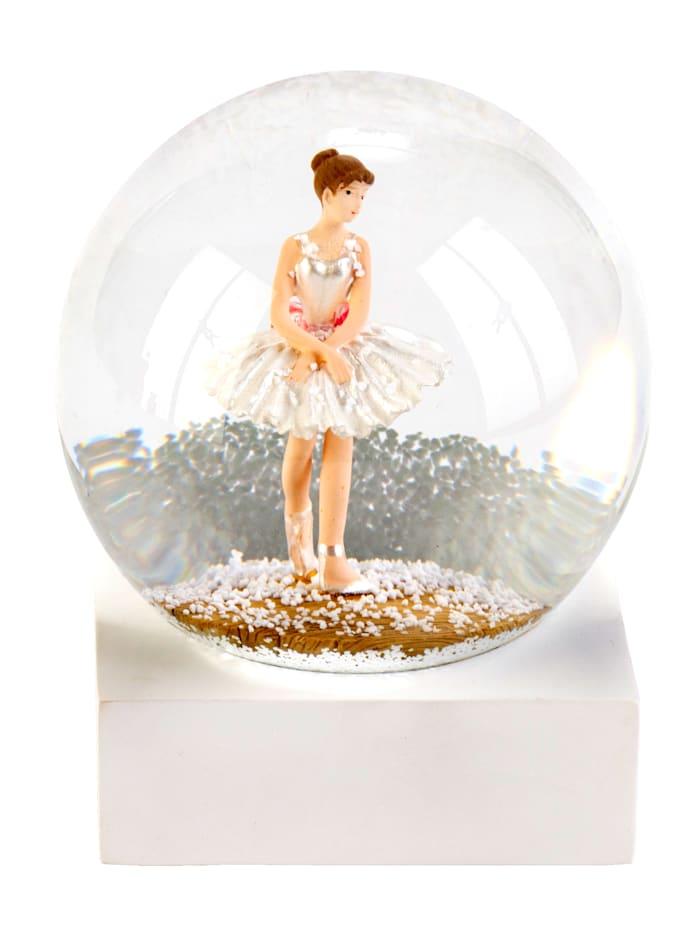 MARAVILLA Schneekugel, Ballerina, weiß/rose