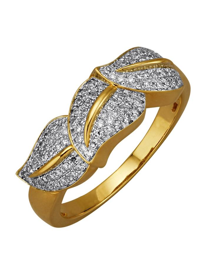 Diemer Diamant Damenring mit Diamanten, Weiß
