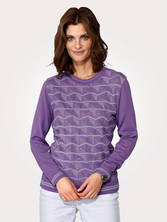 DiStrick Jumper in a chic ajour knit, Lilac