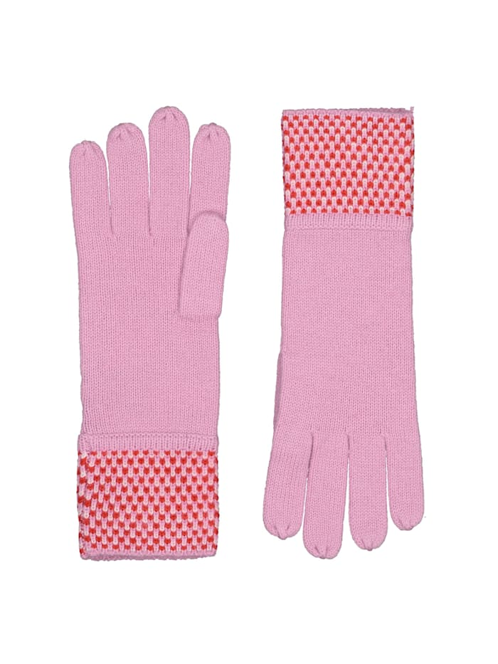 Codello Feinstrick-Handschuhe in wärmendem Wolle-Mix, light rose