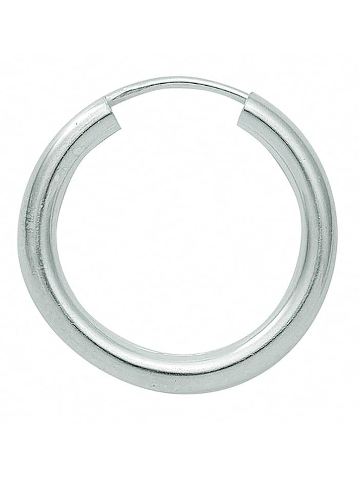 1001 Diamonds Damen Silberschmuck 925 Silber Ohrringe / Creolen Ø 15 mm, silber