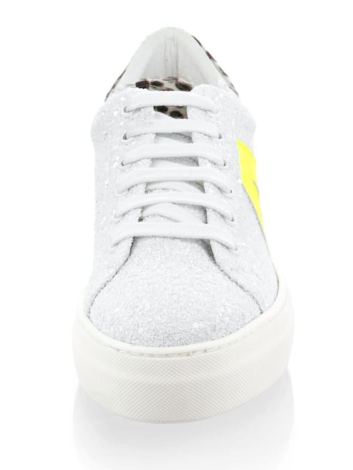 Sneaker mit Mini-Pailletten allover