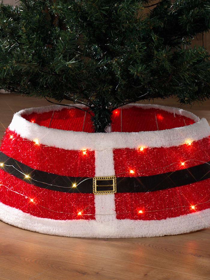 Cache-pied pour sapin de Noël, Rouge