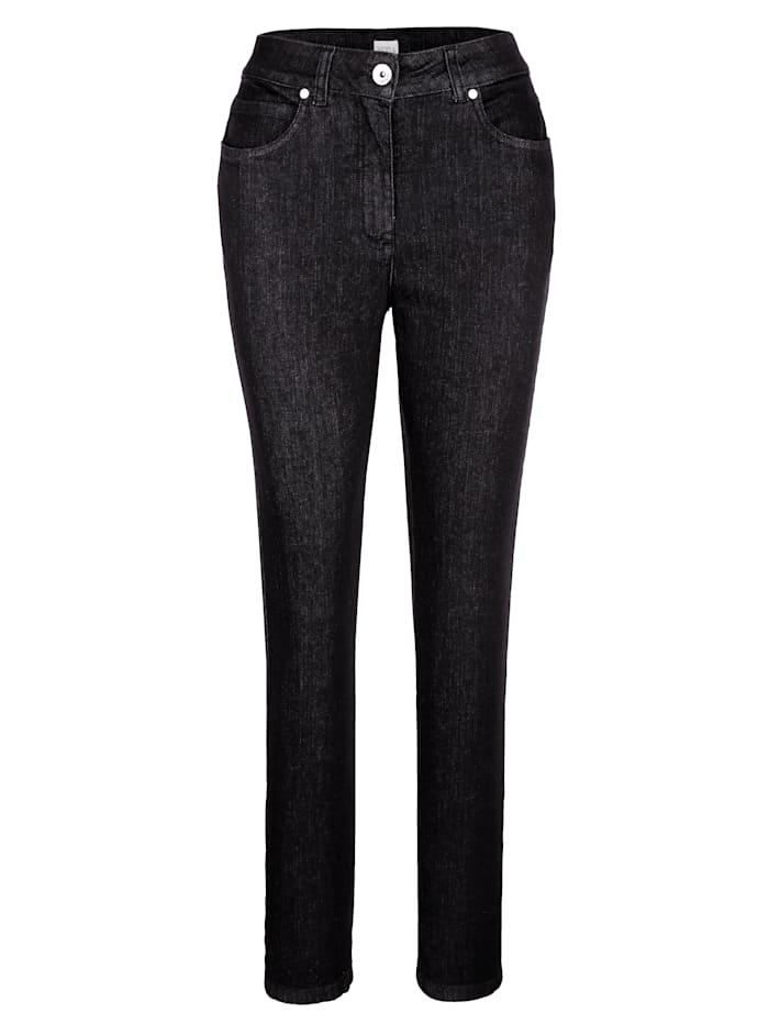 MONA Jeans in komfortabler Querstretch-Qualität, Schwarz