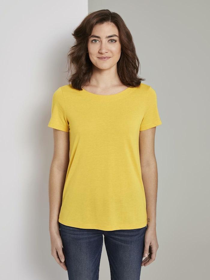 Tom Tailor T-Shirt mit Ringdetail am Rücken, deep golden yellow