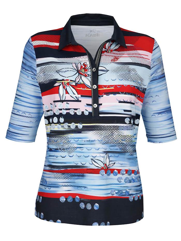 Poloshirt mit grafischem Streifendessin