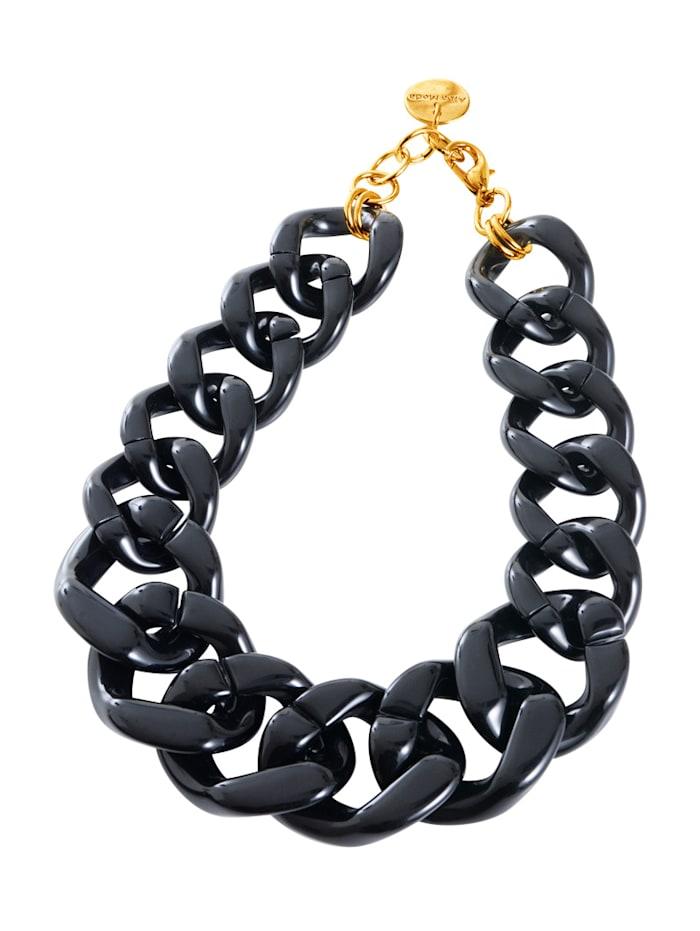 Alba Moda Kette aus hochwertigem Kunststoff, Schwarz