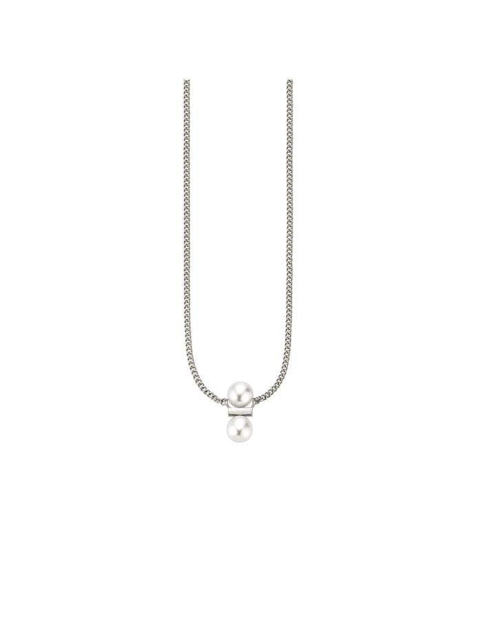 CAI Collier 925/- Sterling Silber Süßwasserzuchtperle 39+3cm Glänzend, weiß
