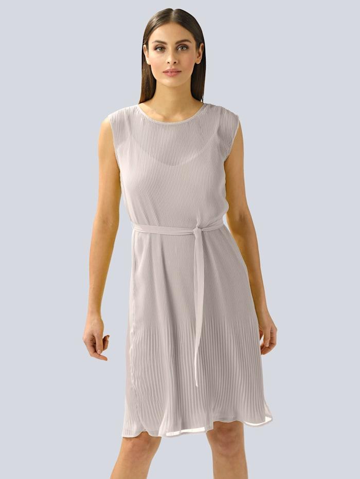 Alba Moda Kleid im Plissée allover, Taupe