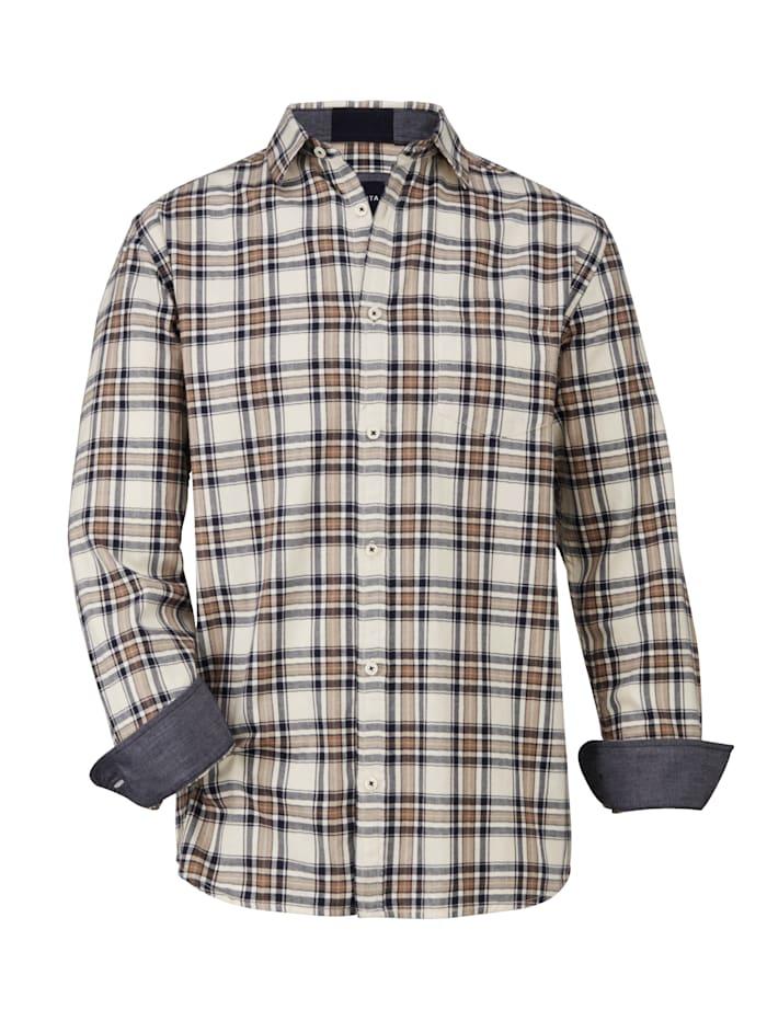 BABISTA Overhemd van geruwd materiaal, Beige/Bruin