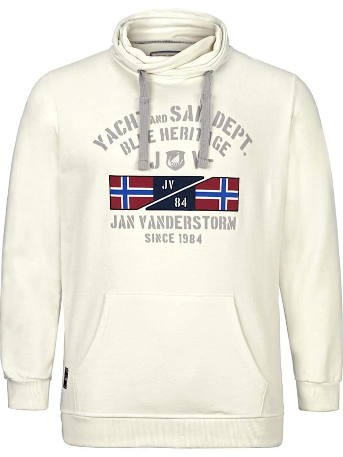 Jan Vanderstorm Jan Vanderstorm Sweatshirt FAPI, weiß